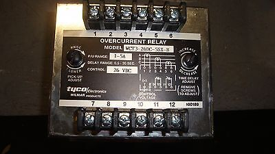 Tyco Wilmar Overcurrent Relay Wct3 26Dc 5Sx B 26 Vdc Free Shipping