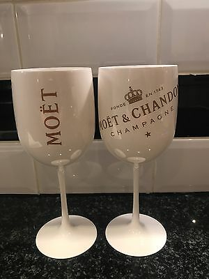 2x Moët & Chandon Ice Imperial Acrylic Goblets Champagne Goblets Pub Shed