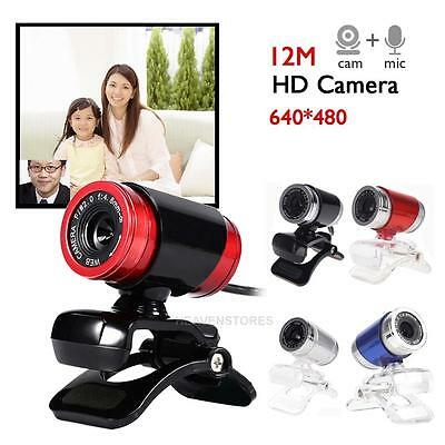 USB 2.0 1080P HD WebCam Web Camera Video with Mic 360°for MSN Skype Desktops PC
