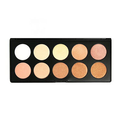 Beauty Creations Glowing Land Highlighter Palette 10 Highly Pigmented Shades