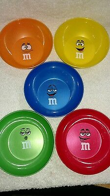 M&M's Set of 5 Plastic Character Bowls