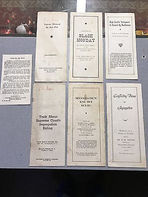 6 1950's Brochures Segregation In South Mississippi Black Monday Red Plot Papers