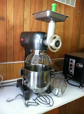 Avantco 20 Quart Commercial Dough Mixer / Meat Grinder M# Mx20 With Attachments