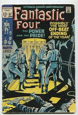 Fantastic Four #87 VG The Power And The Pride Marvel SA