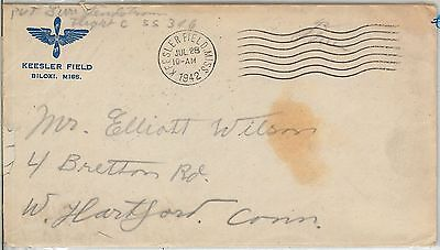 63140  -  UNITED STATES - POSTAL HISTORY -   cover from KEESLER FIELD 1942