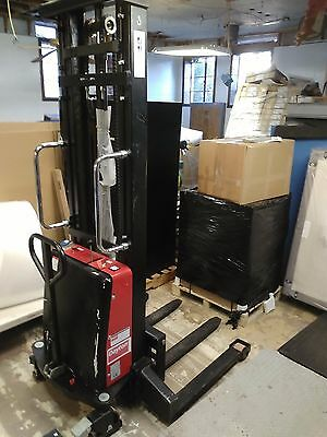 "Dayton Power 5RRZ2 Semi-Electric Hydraulic Stacker 2200 Lb 137"" Lift Height"