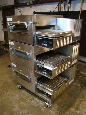 Lincoln Impinger 1132 1162  Electric Triple Conveyor Pizza Ovens.....video Demo