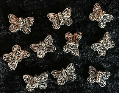 Metal Spacers - Butterflies - Gold - 10 Pieces - New