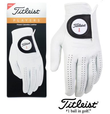 New Titleist Players Leather Golf Glove (Choose Quantity)