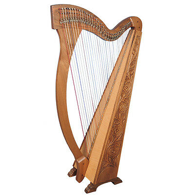 36 Saiten Trinity Walnuss Harfe, 36 Strings Celtic Irish Harp, Irish lever Harp