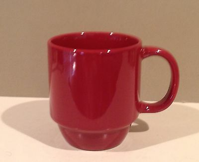 Mainstays Stackable Stoneware Coffee Cup Mug Red Sedona