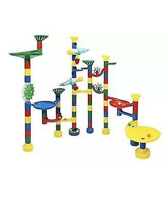 NEW USA Toyz Deluxe 85 Piece Marble Run Plus 50 Marbles | Marble Track Game