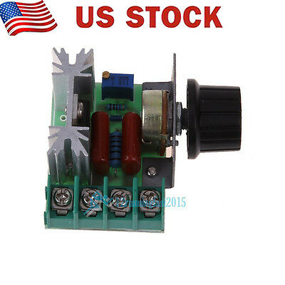 2000W AC 50-220V 25A Adjustable Motor Speed Controller Voltage Regulator PW USA