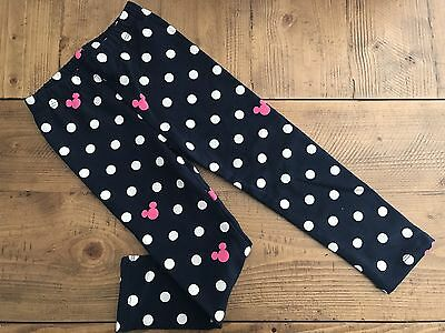 NWT Baby Gap Disney Mickey Minnie Mouse  Cozy Leggings Size 4T Navy Polka Dot