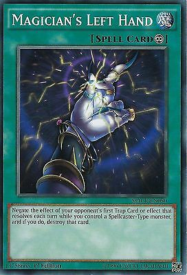 3 x NM Yu-Gi-Oh Magician's Left Hand MACR-EN050 Common 1st Edition English Card