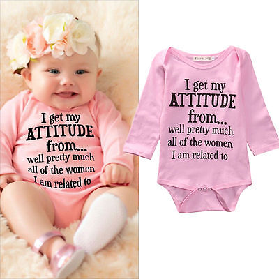 Cotton Newborn Infant Kids Baby Girls Bodysuit Romper Jumpsuit Clothes Outfits