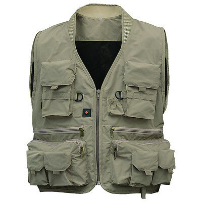 New Men's Multi Function Pockets Traveling Fishing Vest Outdoorl Sports Vest