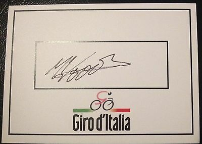 Michael Woods SIGNED Giro d'Italia card. CYCLING, Cannonade Racing Grand Tour