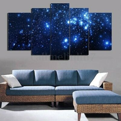 5X Framed Modern Abstract Space Canvas Print Painting Picture Wall Hanging Decor