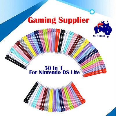 50Pcs Nintendo DS Lite Colorful Tip Stylus Touch Screen Pen For Gaming Palyer AU