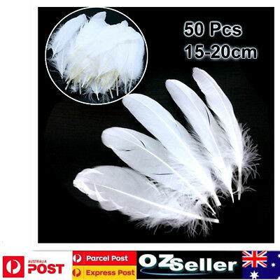 50pcs Black White Goose Feathers 15-20cm Beauty Feather DIY Craft Wedding Party