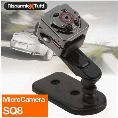 MINI TELECAMERA SPIA MICRO CAMERA NASCOSTA FULLl HD AUTO CAR SQ8 SPY CAM VIDEO