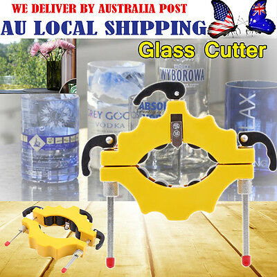 Yellow Wine Bottle Cutters Machine Beer Cutting Recycle Glass Art Craft Tool -GH