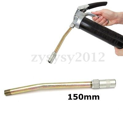 6'' 150mm Iron Grease Gun Hose Tool Rigid Delivery Tube+Galvanized Connector UK