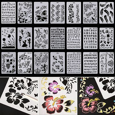 Masking Airbrush Spray Paint Template Drawing Stencil DIY Embossing Scrapbooking