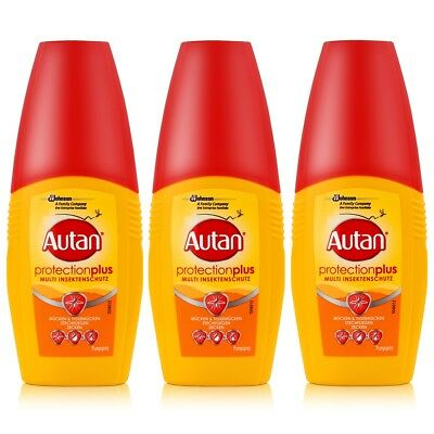 Autan Protection Plus Multi Insektenschutz Pumpspray 100ml (3er Pack)