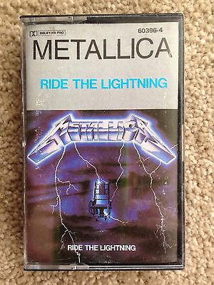 RARE Metallica RIDE THE LIGHTING  CASSETTE TAPE