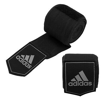 Adidas Cotton Bandages Wrist Hand Wraps Muay Thai Boxing MMA 4.5m Black Wraps