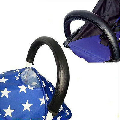 Baby Stroller Pram Pushchair Armrest Case Handle PU Leather Protective Cover