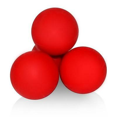 BDS Massage Lacrosse Ball Effective Muscle Body Pain Relief Self-Myofascial Red
