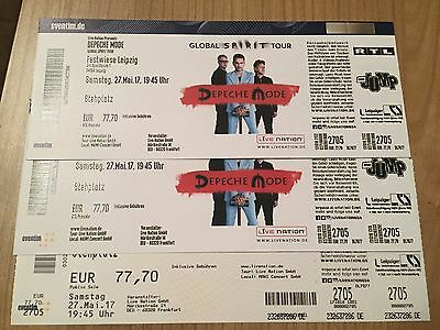 depeche mode konzert tickets leipzig 3 karten innenraum eur 135 00 picclick de. Black Bedroom Furniture Sets. Home Design Ideas