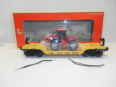 Lionel #16957 Depressed-Center Flat Car 6461 with Ertl Case 4WD Tractor (DM)