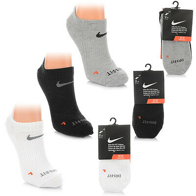 Neu Nike DRI-FIT COTTON SOCKEN 3 PAAR Unisex Sneaker Sportsocken SALE SX4846