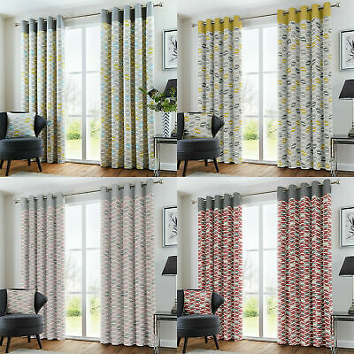 Copeland Fully Lined Eyelet Ready Made Curtains All Sizes Available