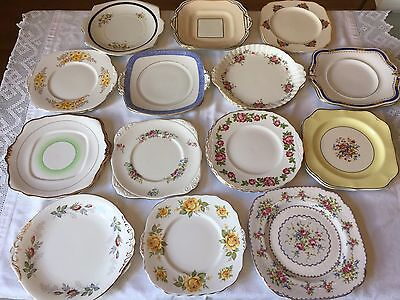 Pretty VINTAGE Bone China CAKE PLATE Floral ROYAL ALBERT PARAGON Pairs Available