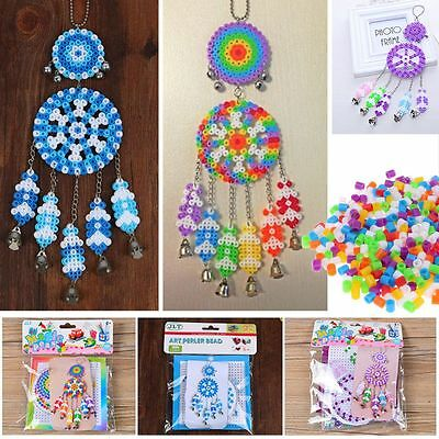 Dream Catcher Windbell Wind Chime DIY Kit with Hama Perler Fuse Beads Kids Craft
