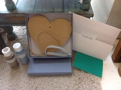 Chalky Paint Personalise Heart Kit - Father's Day / New Baby