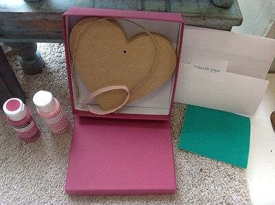 Chalky Paint Personalise Heart Kit - Girl - New Baby