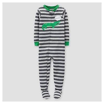 Toddler Boys' Stripe Alligator Footed Pajama Sleeper - Just One You™ Mad...