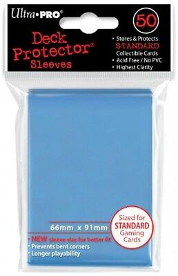 Ultra Pro Summer Blue 50 Count Pack Standard Size Gaming Deck Protector Sleeves