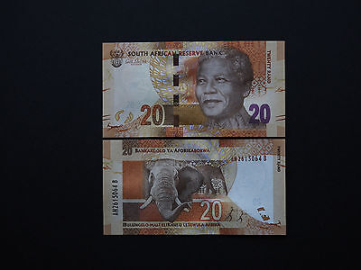 SOUTH AFRICA BANKNOTES  20 RAND    P134  -  No Omron / Elephant      MINT UNC