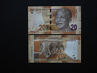 SOUTH AFRICA BANKNOTES  20 RAND  p134   With Omron / Elephant        MINT UNC