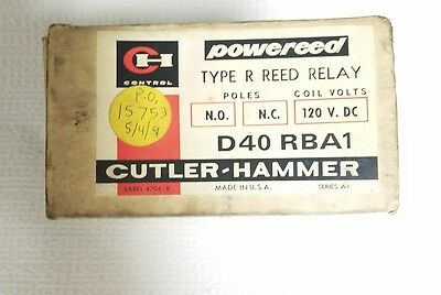 Cutler Hammer D40Rba Type R Reed Relay New In Box Nos D40 Rba1