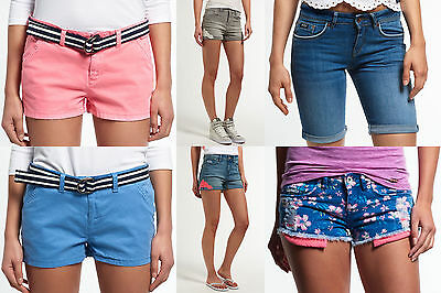 New Womens Superdry Shorts.Various Styles & Colours