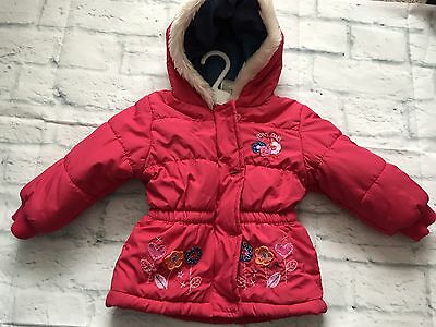 Baby Girls Clothes 9-12 Months - Cute Pink Hooded Coat