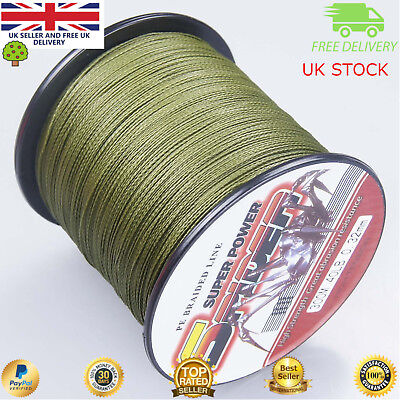 Super Dyneema 300-1000M  30-50LB Fishing Braid Carp Line Army Green Spod Marker